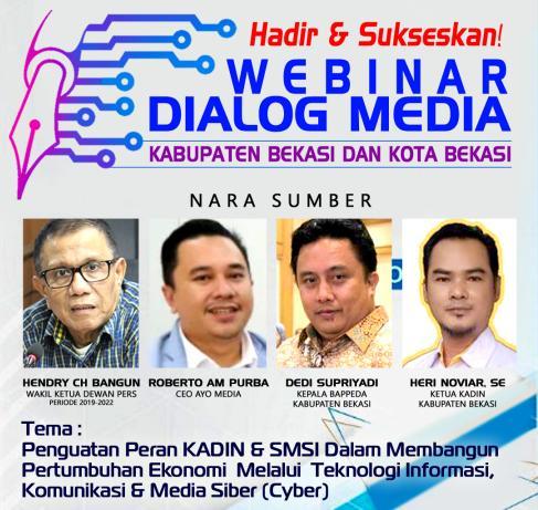 Permalink ke Rencananya, Wakil Ketua Dewan Pers Akan Hadir dalam Webinar SMSI Bekasi Raya